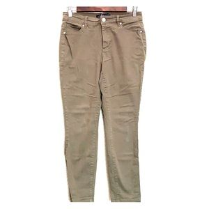 Olive Green Ankle Jeans